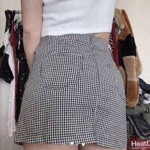 brandy melville gingham skirt